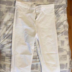 White high waisted Zara jeans